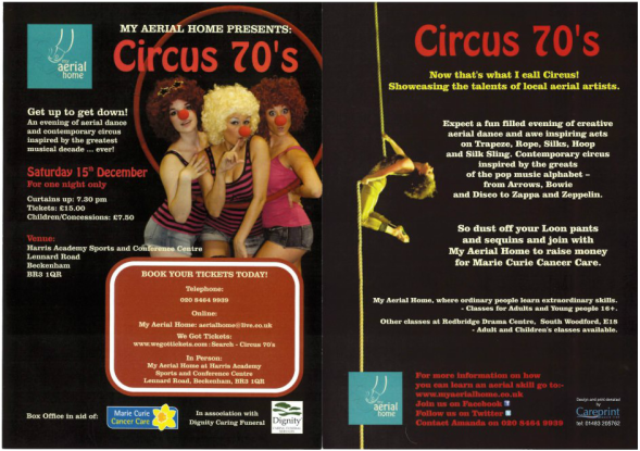 Circus 70s Flyer